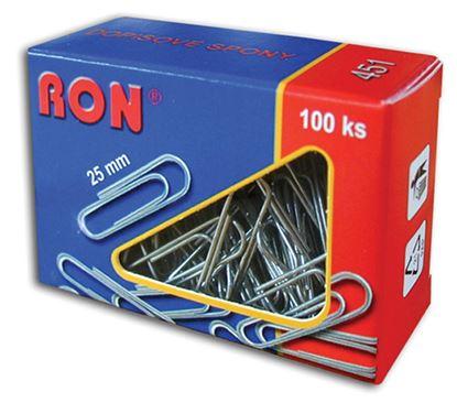 Obrázek Dopisní spony RON - 25 mm / 100 ks