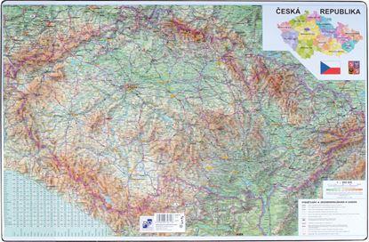 Obrázek Pracovní podložky dekorované - jednostranná / mapa Česká republika