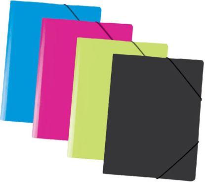 Obrázek Spisové desky A4 s gumou neprůsvitné - azur