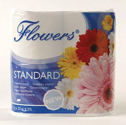 Obrázek Toaletní papír Flowers Standard - jednovrstvý / šedá