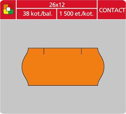 Obrázek Etikety do etiketovacích kleští - 26 x 12 mm Contact / oranžová