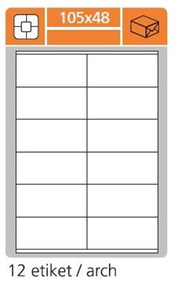 Obrázek Print etikety A4 PLUS pro laserový a inkoustový tisk - 105 x 48 mm (12 etiket / arch)