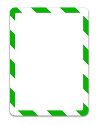 Obrázek Kapsy Magneto bezpečnostní - A4 / zeleno-bílá / 2 ks / samolepicí