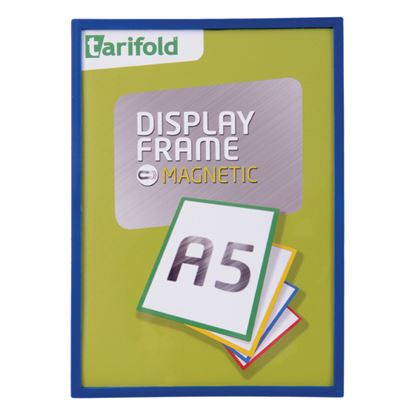 Obrázek Kapsy magnetické Tarifold Display Frame -  A5 / modrá