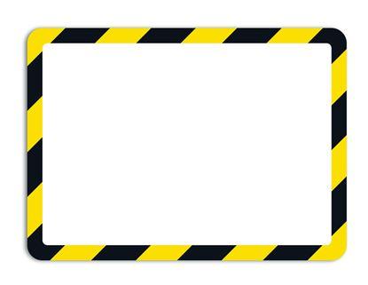 Obrázek Kapsy Magneto bezpečnostní - A4 / žluto-černá/ 2 ks / samolepicí