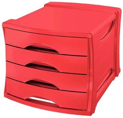 Obrázek Zásuvkový box Esselte Vivida - červená