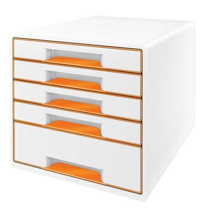 Obrázek Zásuvkový box Leitz WOW -  oranžová / 4+1 zásuvky