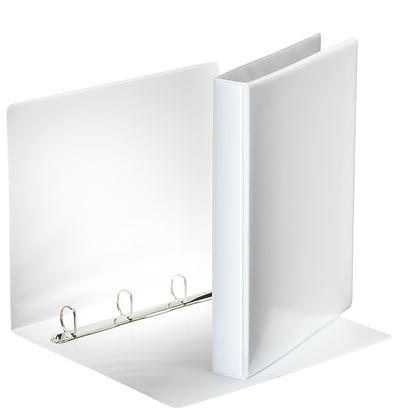 Obrázek Pořadač A4 kroužkový prezentační -  hřbet 4,4 cm -4 - kroužek / bílá