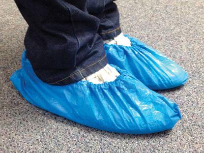 Obrázek Návleky na obuv jednorázové - 100 ks / modré