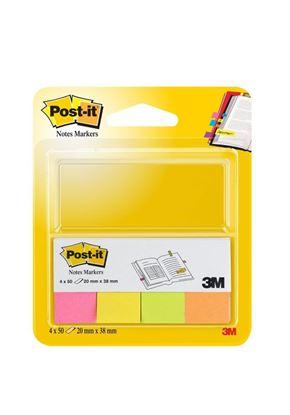 Obrázek Samolepicí bločky Post-it značkovací  - 20 mm x 38 mm / 4 x 50 lístků