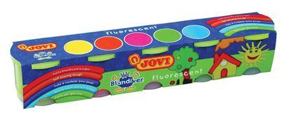 Obrázek Měkká plastelína JOVI Blandiver - 5 x 110 g / neonové barvy