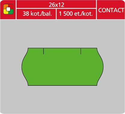 Obrázek Etikety do etiketovacích kleští - 26 x 12 mm Contact / zelená