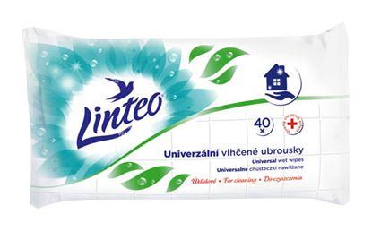 Obrázek Vlhčené ubrousky Linteo Satin - použití pro domácnost / 40 ks