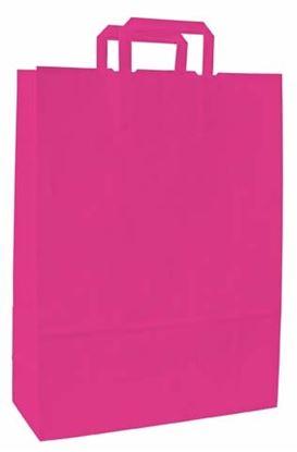 Obrázek Taška papírová barevná -  180 x 80 x 250 mm / růžová