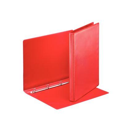 Obrázek Pořadač A4 kroužkový prezentační -  hřbet 3 cm -4 - kroužek / červená