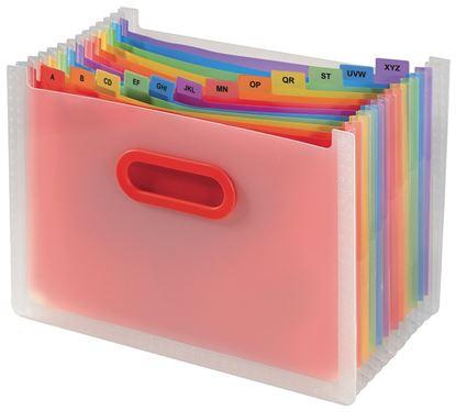 Obrázek Stolní organizér s přihrádkami Snopake Rainbow - A4 / 13 přihrádek