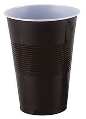 Obrázek Kelímky kávové plastové - hnědobílé termo / 2 dcl / 100 ks