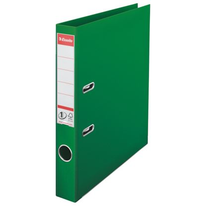 Obrázek Pořadač A4 pákový celoplastový - hřbet 5 cm / zelená / 811460