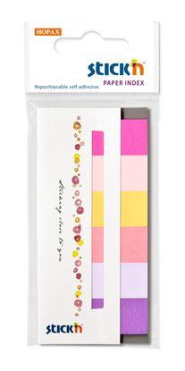 Obrázek Samolepicí záložky Stick´n by Hopax - 15 x 45 mm / 6 x 30 lístků / růžové odstíny