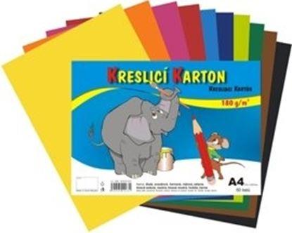 Obrázek Barevný karton - A4 / 180 g / 60 listů / barevný mix