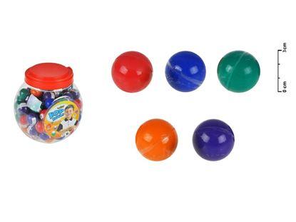 Obrázek Hopík gumový - mix barev / 84 ks v dóze
