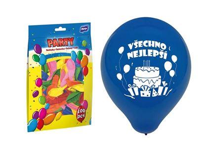 Obrázek Nafukovací balonky - vel. M / 100 ks Všechno nejlepší