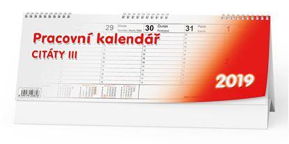 Obrázek Kalendář stolní pracovní CITÁTY - Citáty III. / BSB3