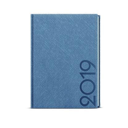 Obrázek Baloušek Tisk David Tora A5 denní 2021 modro-šedá
