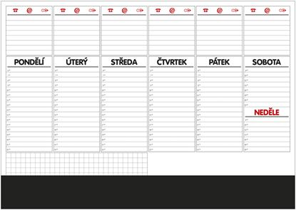 Obrázek Plánovací týdenní stolní mapa -  OS100