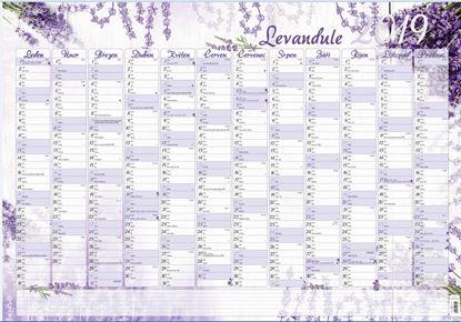 Obrázek Plánovací roční nástěnná mapa - Levandule / BKA9
