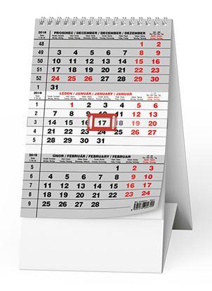 Obrázek Kalendář stolní MINI TŘÍMĚSÍČNÍ - mini Tříměsíční / BSA7