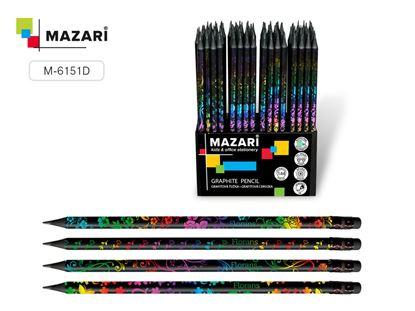 Obrázek Tužka s gumou Mazari - HB / barevný mix