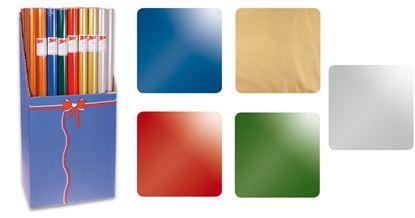 Obrázek Papíry balicí dárkové -  70 x 200 cm / jednobarevný mix