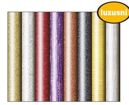 Obrázek Balicí papír v roli - 70 x 200 cm / jednobarevný, glitr