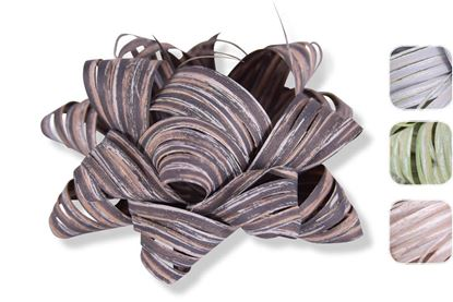 Obrázek Samolepicí rozetky Raphia - 6,5 cm / lýkové, mix barev