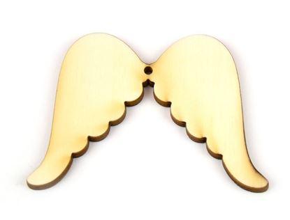 Obrázek Dřevěné výřezy - 7,5 cm / andělská křídla