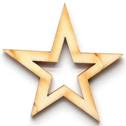 Obrázek Dřevěné výřezy - 6,5 cm / hvězda