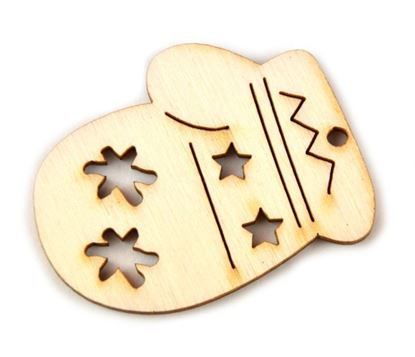 Obrázek Dřevěné výřezy - 3 x 4 cm / rukavice