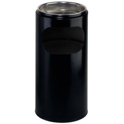 Obrázek Stojanový popelník s mřížkou na nedopalky - černá / 10 l