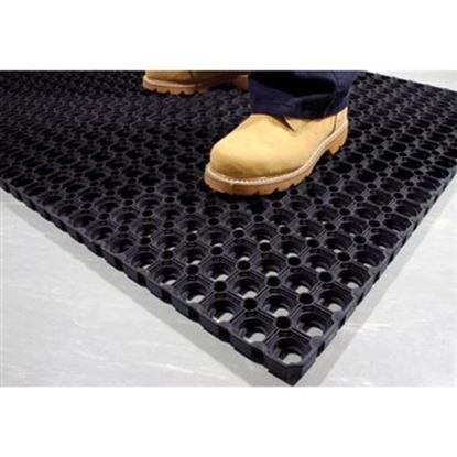 Obrázek Gumová venkovní rohož -  černá / 80 x 120 cm