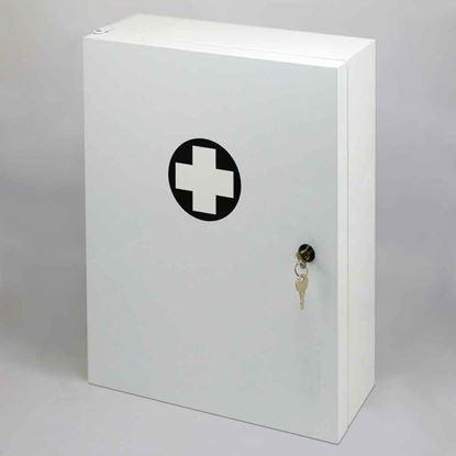 Obrázek Lékárnička kovová nástěnná -  bílá / 45 x 35 x 15 cm / prázdná