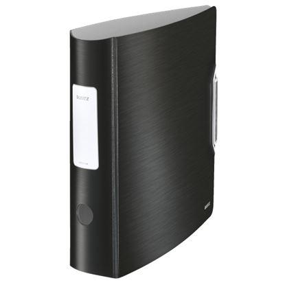 Obrázek Pořadač A4 pákový celoplastový Leitz 180⁰  Active STYLE  - hřbet 7,5 mm / saténově černá