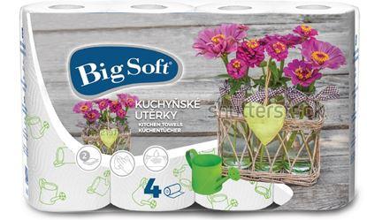 Obrázek Utěrky papírové Big Soft - 4 ks / motiv jara
