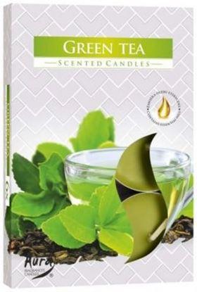 Obrázek Čajové svíčky - 6 ks / zelený čaj