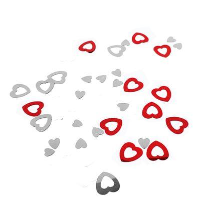Obrázek Konfety papírové leské - Srdce / 15 g