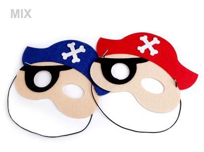 Obrázek Dětská karnevalová maska - škraboška pirát