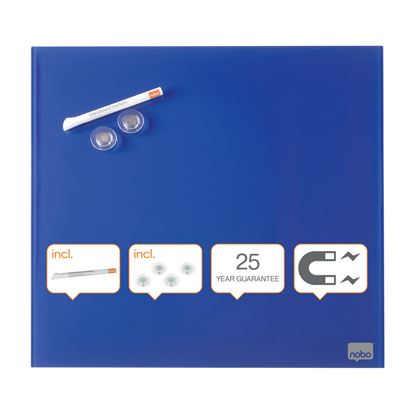 Obrázek Tabule magnetické skleněné Diamond - 45 x 45 cm / modrá