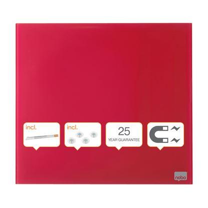 Obrázek Tabule magnetické skleněné Diamond - 45 x 45 cm / červená