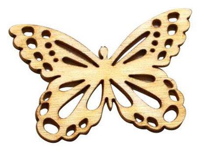 Obrázek Velikonoční dřevěná dekorace - výřez / 3,5 cm - motýl