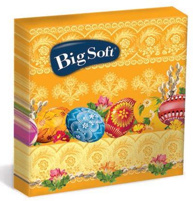 Obrázek Velikonoční ubrousky Big Soft - 33 x 33 cm / dvouvrstvé - 20 ks